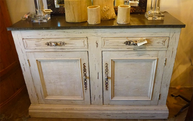 Finest AREA-Houston Antiques & Furniture - Hand Painted Buffet with  IW31