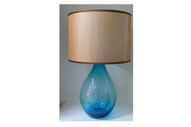 blue glass lamp 31 high