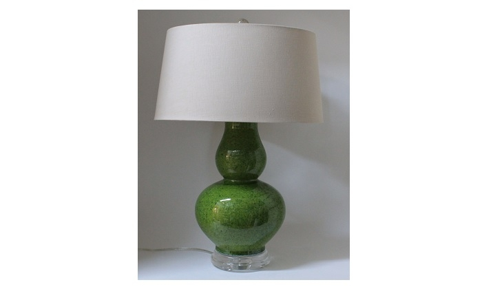 Green Lamp With Acrylic Base