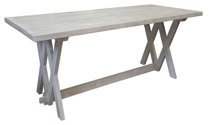 Quentin Dining Table With Gray Wash Finish | Custom Sizes Available | 84 X  44 X30.5u2033 H | $3450.00