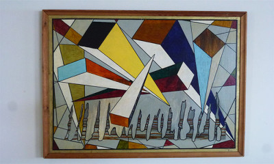 1960s French Modernist painting