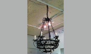 19th century Spanish iron chandelier