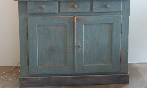19th century French painted cupboard