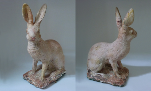 19th c. Dutch plaster hare