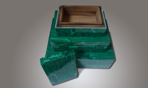 Faux Malachite Boxes