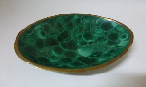 Malachite Bowl 7""