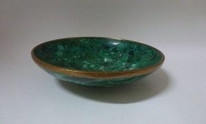 Malachite Bowl 6.5""