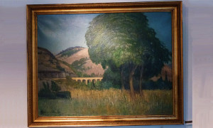 1930's French Provance landscape painting