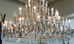 Vintage 1970's Italian chandelier lighting