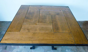 Belgian table with wood top