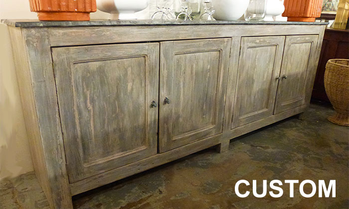 Reclaimed Wood Pastry Table - AREA-Houston Antiques & Furniture - Custom