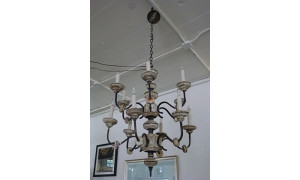 Itlian Wood and Iron Chandelier