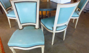 Louis XVI Chairs in leather