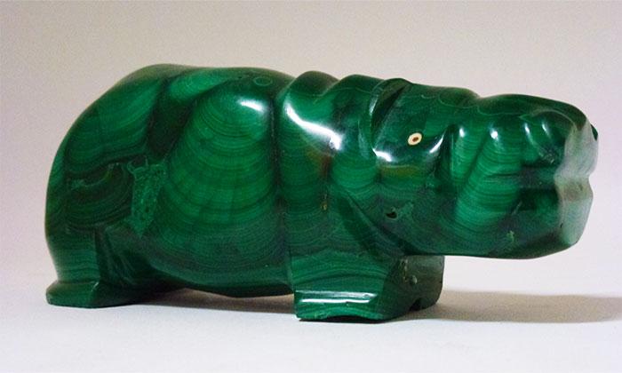 Vintage Malachite Hippo