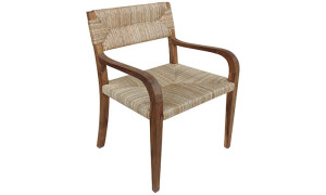 Teak and Seagrass Armchair