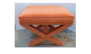 orange ottoman