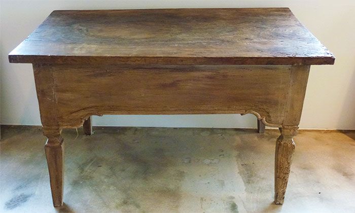 19th c. Italian Painted table with side drawers