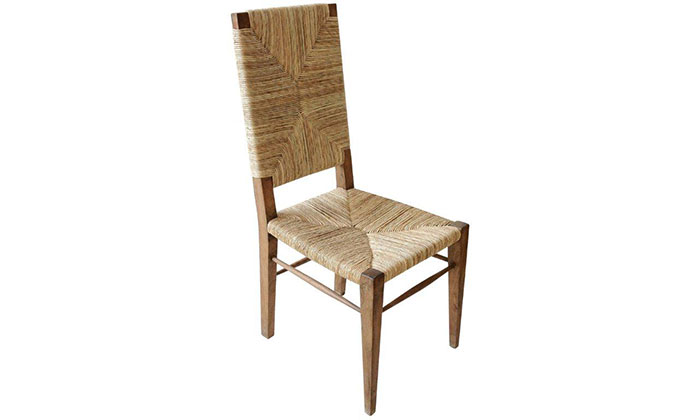 Teak and Seagrass Chair